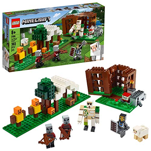 LEGO Minecraft The Pillager Outpost 21159 Awesome Action Figure Brick Building Playset for Kids Minecraft Gift, New 2020 (303 Pieces) from LEGO
