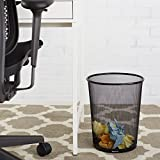 AmazonBasics Mesh Trash Can Waste Basket