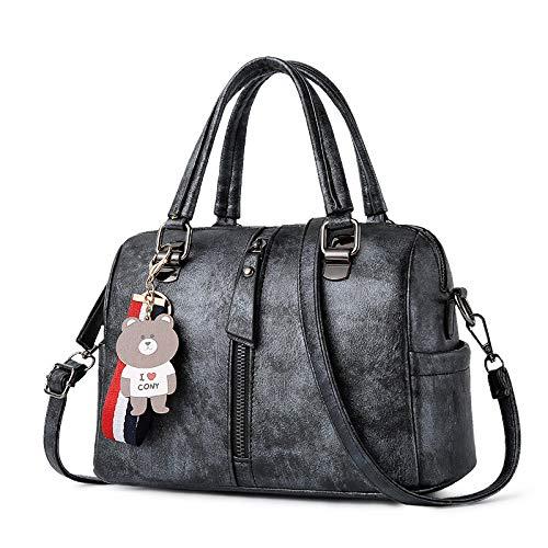 Shopping Pendente Donna Grande Black A Carta Vintage Forma Da Lijinjing Spalla Di Borsa Capienza SYBA6B