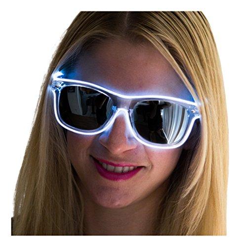 Neon Nightlife Slightly Tinted Wayfarer Light Up Glasses