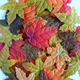 Silk Maple Leaves - Mix of 3 Colors - 200 leaves per bag
