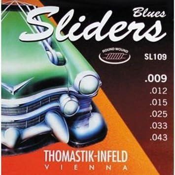 CUERDAS GUITARRA ELECTRICA - Thomastik (SL109) Sliders Blues ...