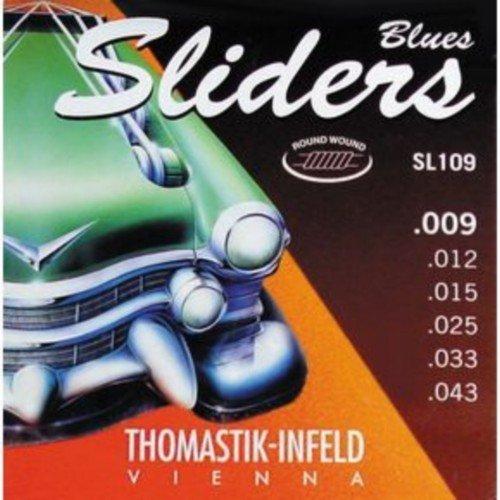 CUERDAS GUITARRA ELECTRICA - Thomastik (SL109) Sliders Blues Guitar (Juego Completo 009/043E): Amazon.es: Instrumentos musicales
