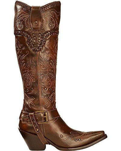 Kraal Vrouwen Vintage Bezaaid Tuig Cowgirl Boot Snip Teen - G1116 Bruin