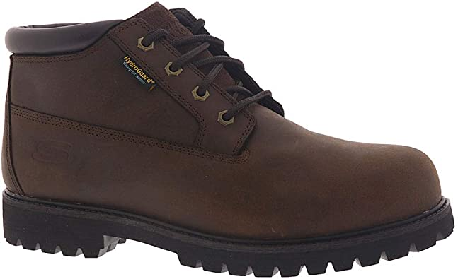 Personalmente mesa base  Amazon.com: Skechers Mens Work Trevok Leather Waterproof Work Boots: Shoes