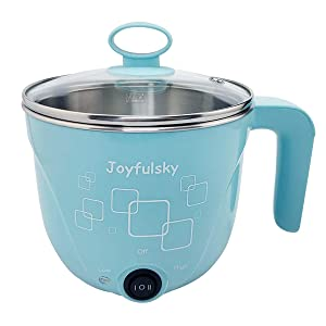 1L Electric Hot Pot with American plug,travel pot, noodle pot, student pot, 120V 600W, for Cook Noodles, Boiling Water and Egges (Blue)