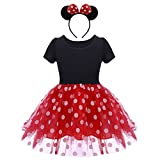 OBEEII Girls Child Comics Fancy Dress up Party Costumes Ballet Tutu Dresses with Headband 3-4 Years