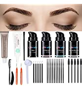 Libeauty Brow Lamination Tint Kit Brown DIY Brow Lamination And Tint At Home, Professional Eyebro...