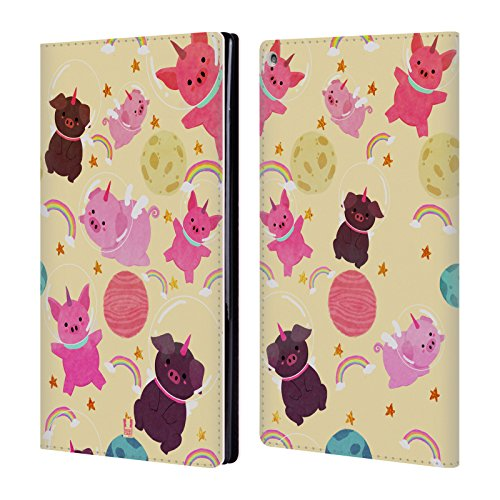- Head Case Designs Pig Space Unicorns Leather Book Wallet Case Cover for Amazon Fire HD 10
