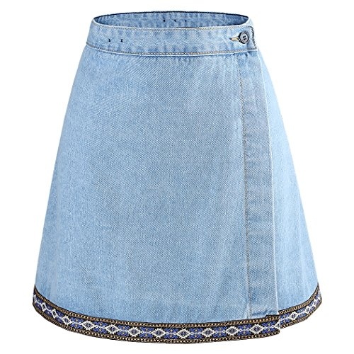 Yichaoyiliang Summer Women Skirts A Line Mini Denim for sale  Delivered anywhere in USA