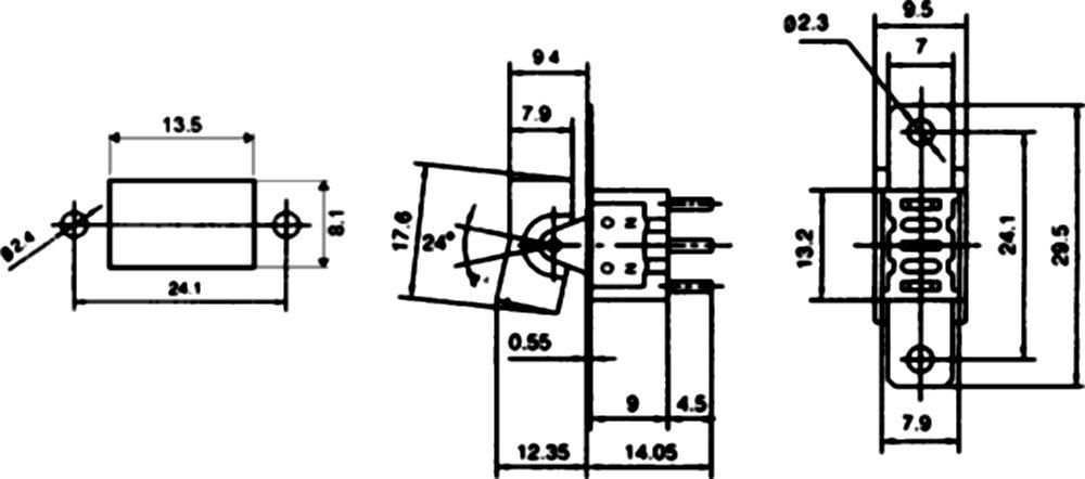 1 posicion C10735 ON AERZETIX: Interruptor conmutador basculantes de boton SP3T ON 3A//250V -OFF-