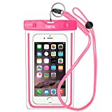 EOTW Waterproof Cell Phone Case Pouch Pocket Dry Bag with Military Class Lanyard For Diving Surfing Skiing, Fits iPhone 6 6S Plus 5 5S 5C SE, Galaxy S4 S5 S6 S7 Edge, Blu LG Motorola NOKIA HTC - Pink