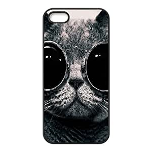 ALICASE Diy Customized Hard Case Lovely Cat for iPhone 5,5S [Pattern-1]