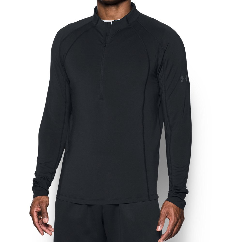 Under Armour Men's ColdGear Reactor Run ½ Zip,Black (001)/Reflective, Medium by Under Armour (Image #1)