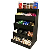 Coffee Condiment Organizer for Professional & Commercial Coffee Presentation. 25''High With Open Top shelf. Proudly Made by PPM is the USA!