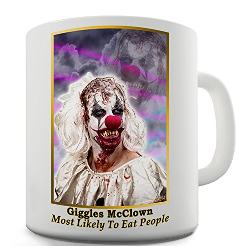 Funny Mugs For Work Scary Giggles Mc Clown By Twisted Envy 15 OZ