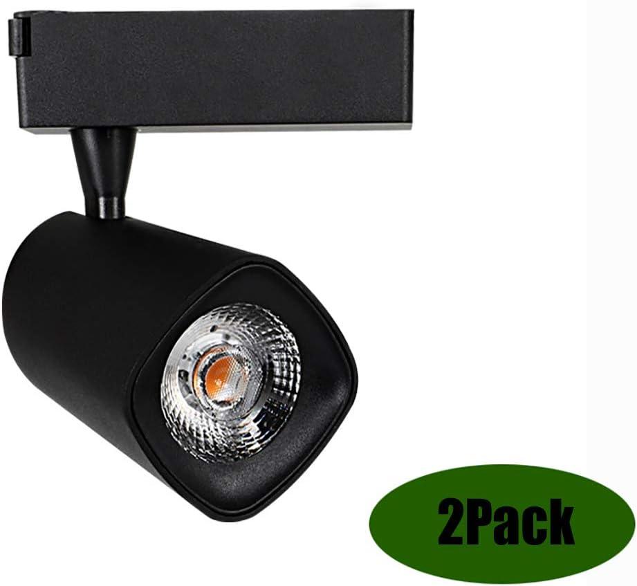 Aione Hue Spotlight LED luz de Pista 30W 35W Pista trifásica Negro Blanco 100V-220V 50Hz / 60Hz 360 ° rotación 180 ° inclinación Ángulo de luz 45 ° -65 °,Black,30W
