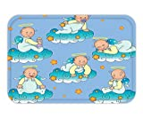 Minicoso Doormat Baptism Decorations By Baptism Sitting Sleeping Crawling Smiling Babies On Clouds Catholic Children Party Decor