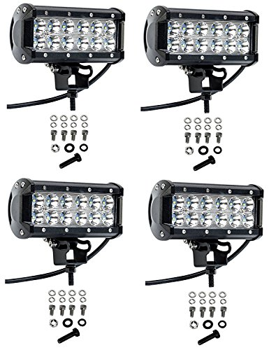 Cutequeen 4 X 36w 3600 Lumens Cree LED Spot Light for Off-road Rv Atv SUV Boat 4x4 Jeep Lamp Tractor Marine Off-road Lighting (pack of 4) (Tractor Light Bar)
