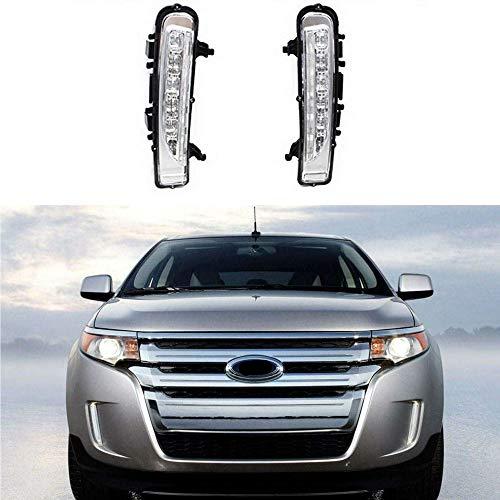 MotorFansClub LED Daytime Running Light for Ford Edge SUV Fog Lamp DRL 2011-2014 (White)