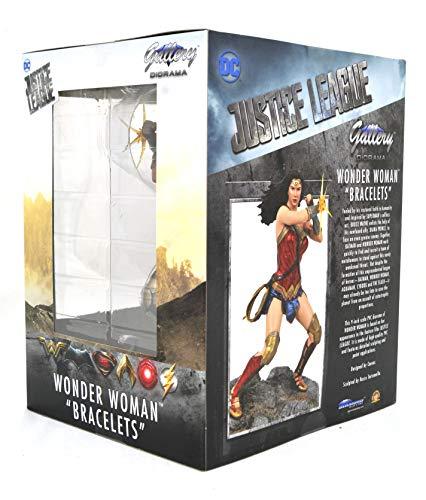 DIAMOND SELECT TOYS DC Movie Classics Gallery: Justice League Wonder Woman PVC Figure, Multicolor, One-Size