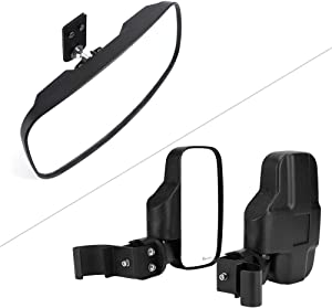 UTV Side Mirror and Rear View Mirror Compatible with 2017-2021 Polaris Ranger 500 570 1000 XP/crew