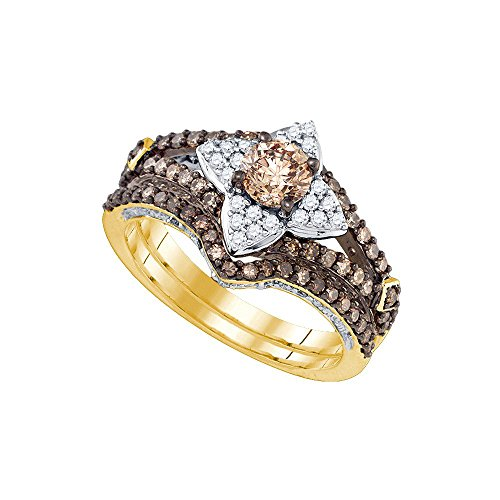 Colored Diamond Wedding Ring Sets: White Gold » 14kt Yellow Gold