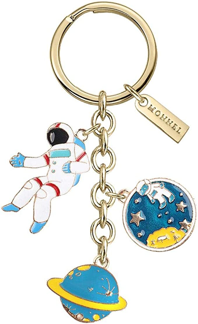 New Cosmonaut Key chain Keychain Spaceman Key holder Ring for Men High Quality