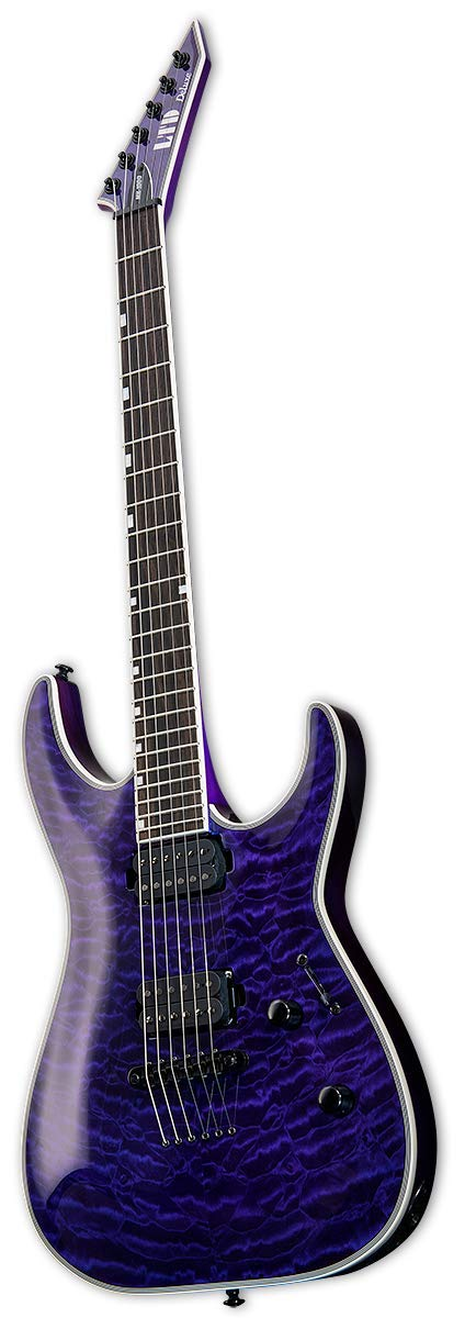 Amazon.com: ESP LTD MH-1000NT Electric Guitar, See Thru Purple: Musical Instruments