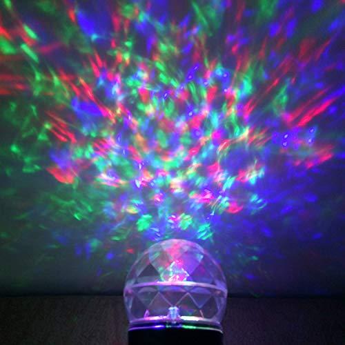 Lightess Kaleidoscope Spotlight Rotating Led Light Outdoor Halloween Christmas Light Show Crystal Ball Light Waterproof for Garden, Trees, Landscape, Home, Kid's Room, Party Decorations (White) -