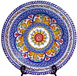 Amazon Com Handmade Ceramic Plate From Spain Multicolor