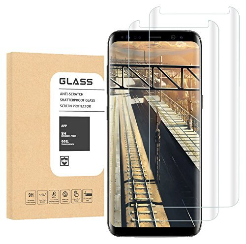 WANGCL edryrtcvb Galaxy S8 Plus Glass Screen Protector, [Case Friendly] [Updated Version] Screen Protector HD Glass Screen Protector for Samsung Galaxy S8 Plus[2PCK] Clear