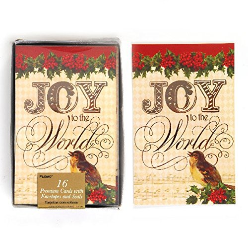 DDI 2127655 Joy to The World Boxed Christmas Cards - Count of 16 - Case of 12