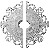 Ekena Millwork CM38OL2 38 3/8''OD x 6 5/8''ID x 2 7/8''P Orleans Ceiling Medallion, Fits Canopies up to 8-1/4'', 2 Piece