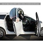 Car Door Edge Guard – Universal Automotive Edge Trim Sealing Strip, B Shape Rubber Draught Self Adhesive Seal Weather…