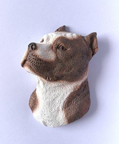 American Pitbull Dog Head Fridge Magnets Resin 3D fridge Refrigerator Thai Magnet Hand Made Craft.
