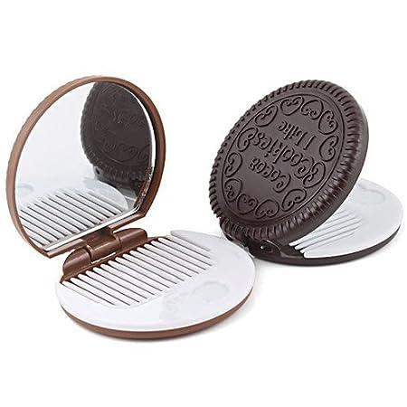 Katara - Miroir de Poche En Forme De Biscuits Chocolat 1027 France premium livraison gratuite