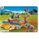 Playmobil - 4829 - Figurine - Animaux - Couple de Hyènes et Vautour