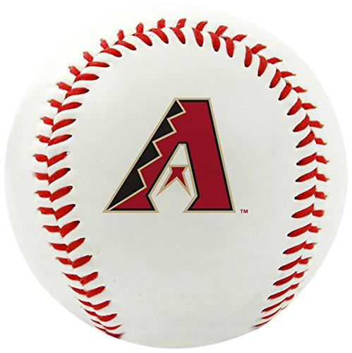 Rawlings MLB Arizona Diamondbacks Team Logo Baseball, Official, White (Arizona Diamondbacks Team Sports Fan)