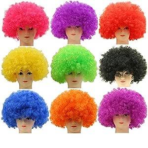 50Pcs Clown Fans Carnival Wig Circus Funny Fancy Dress Stage Joker Costume Hair Wig Festive Prop