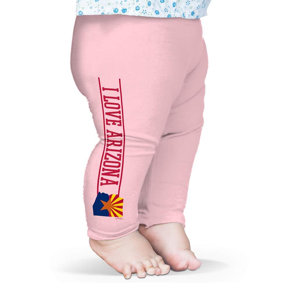 Twisted Envy Baby Leggings I Love Arizona State Flag Baby and Toddler Girls Leggings