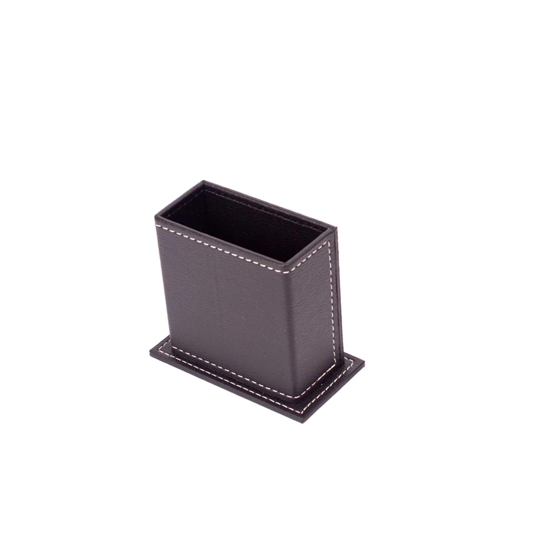 Colore per Cucire:Colore cucito marrone Vegan 9 Set Scrivania in pelle in finta pelle con portacellulare e 2 opzioni di cucito in nero