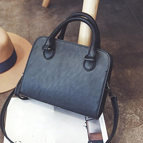 BZLine® Frauen Tragetaschen Schnell verkaufend Modisch Handtaschen Taschen, 23cm *9cm *18cm (Pink) Schwarz