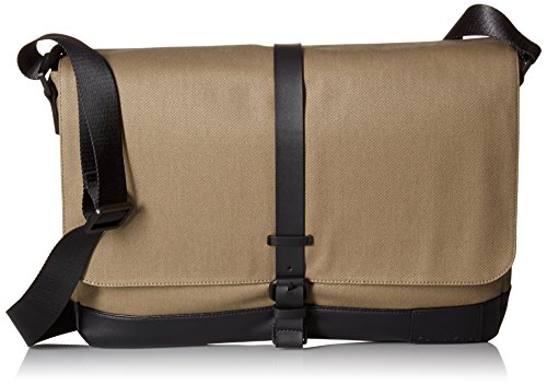 Calvin Klein Men's Coated Canvas Messenger, Fatigue by Calvin Klein