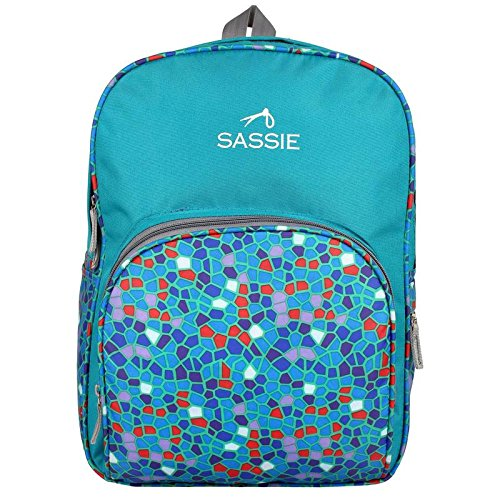 Sassie Polyester Green School Bags  21 Liters   SSN 1001