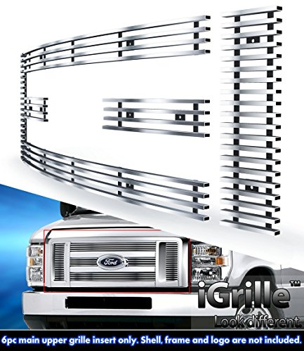For 2008-2013 Ford Econoline Van/E-Series Stainless Steel Billet Grille #F66658C