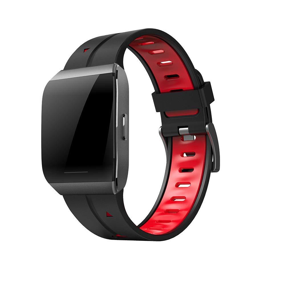 rouge  YSM Fitness Tracker étanche, Bracelet intelligentregarder avec écran Couleur. Fitness Sport de 1,3 Pouce pour Le Grand Public,vert