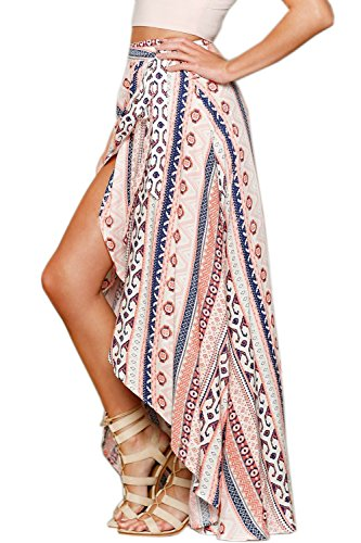 Sarong Skirt Dress (Patiky Women Girl Beach Cover Up Stripe Sarong Pareo Bikini Wraps Coverups Dress Split Skirt With Straps WFZ02 (Pink))