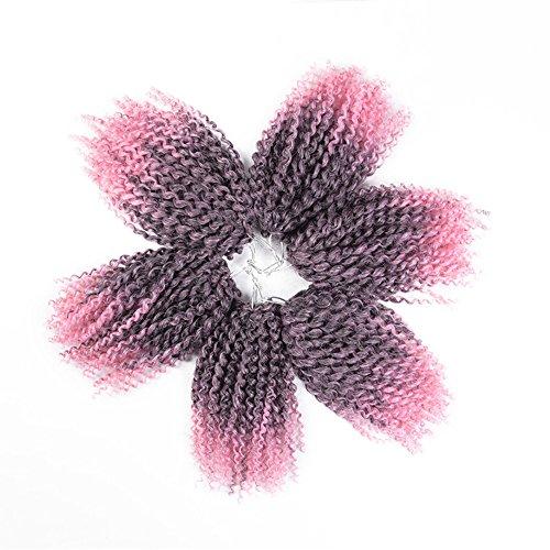 Refiend 8inch Marlibob Kinky Curly Crochet Hair Marly Braid