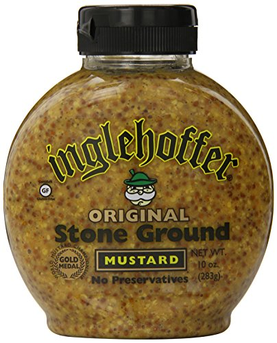 Inglehoffer Stone Ground Mustard, 10-Ounce Squeezable Bottles (Pack of 6) ()